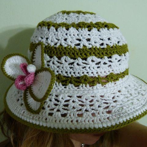 Háčkovaný letní klobouk 70a453e7f9